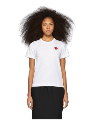 Comme Des Garcons PLAY and red heart patch t-shirt