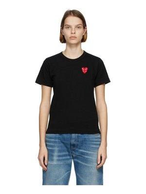 Comme Des Garcons PLAY and red layered heart t-shirt