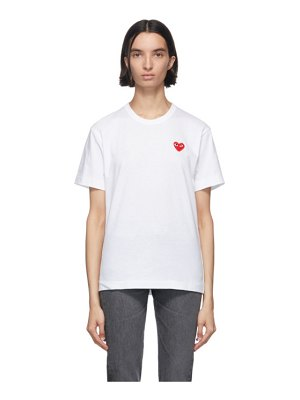 Comme Des Garcons PLAY and red mens fit heart t-shirt