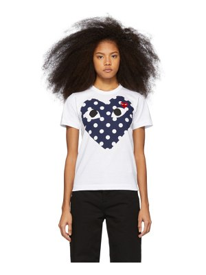 Comme Des Garcons PLAY and red polka dot heart t-shirt