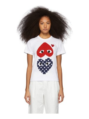 Comme Des Garcons PLAY and red polka dot hearts t-shirt