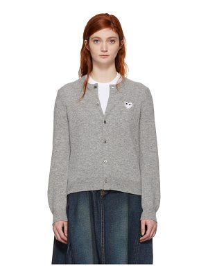 Comme Des Garçons Play and White Heart Cardigan