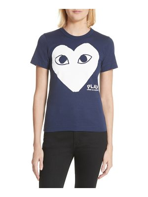 Comme Des Garcons PLAY big heart graphic tee