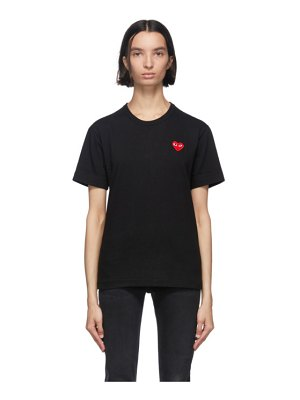 Comme Des Garcons PLAY black and red mens fit patch heart t-shirt