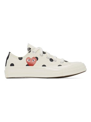 Comme Des Garcons PLAY converse edition polka dot heart chuck 70 low sneakers