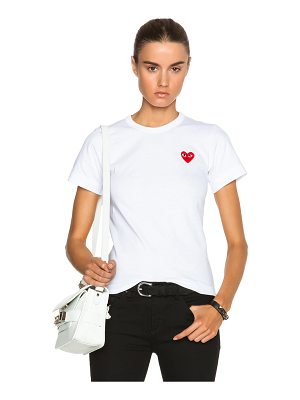 Comme Des Garcons PLAY Cotton Red Emblem Tee