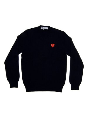 Comme Des Garcons PLAY double heart play v-neck sweater