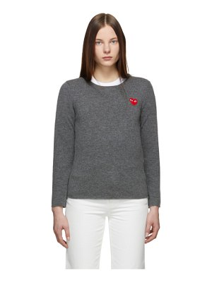 Comme Des Garcons PLAY grey heart patch sweater