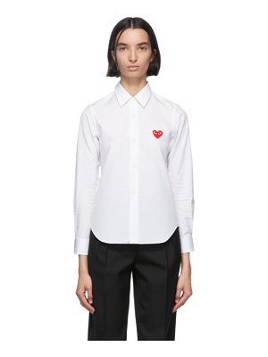 Comme Des Garcons PLAY heart patch shirt