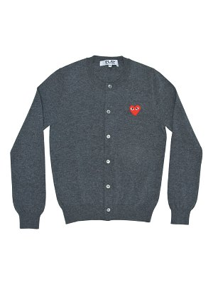 Comme Des Garcons PLAY heart wool cardigan