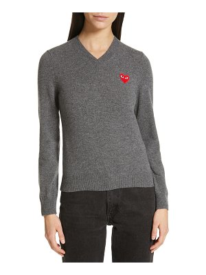 Comme Des Garcons play heart wool pullover
