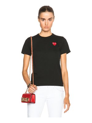 Comme Des Garcons PLAY Jersey Red Emblem Tee