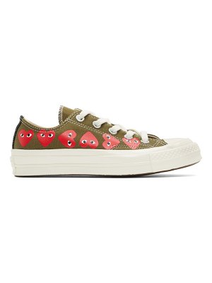 Comme Des Garcons PLAY khaki converse edition multiple heart chuck 70 sneakers