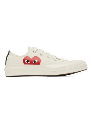 Comme Des Garcons PLAY off-white converse edition half heart chuck 70 low sneakers
