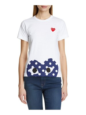 Comme Des Garcons play polka dot peek heart graphic tee