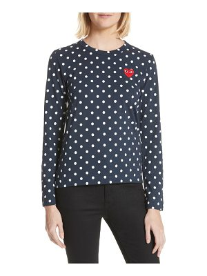 Comme Des Garcons PLAY red heart polka dot tee