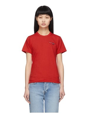 Comme Des Garcons PLAY red twin heart t-shirt