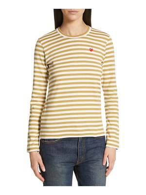 Comme Des Garcons play stripe tee