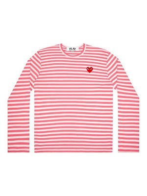 Comme Des Garcons PLAY striped long-sleeve shirt