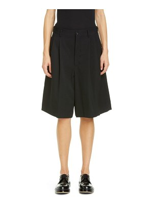 Comme Des Garcons pleated long wool shorts