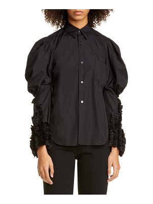 Comme Des Garcons puff sleeve ruffle cotton shirt