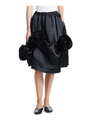 Comme Des Garcons rose layered padded satin a-line skirt