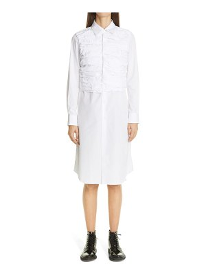 Comme Des Garcons ruched long sleeve midi shirtdress