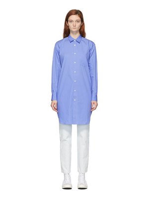 Comme des Garcons Shirt blue long front shirt