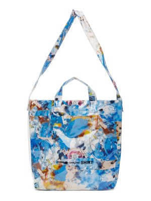 Comme des Garcons Shirt blue small futura edition tote
