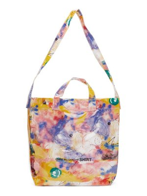Comme des Garcons Shirt pink small futura edition tote