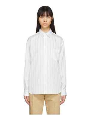Comme des Garcons Shirt white cupro striped forever shirt