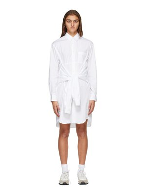 Comme des Garcons Shirt white extra sleeves shirt dress