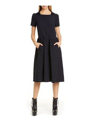 Comme Des Garcons square neck midi dress