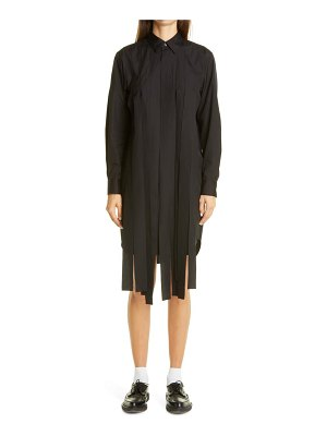 Comme Des Garcons streamer long sleeve cotton shirtdress