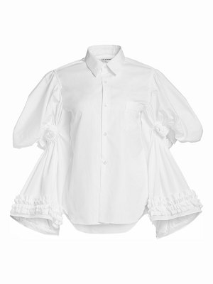 Comme Des Garcons tiered puff-sleeve poplin blouse