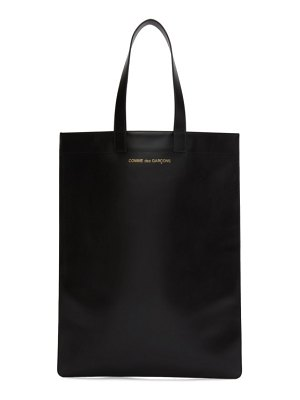 Comme des Garcons Wallets black leather classic line tote