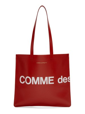 Comme des Garcons Wallets red huge logo tote