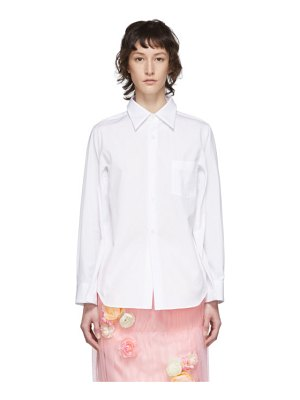 Comme Des Garcons white broad four-sleeve shirt