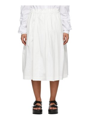 Comme Des Garcons white cloth pull-on skirt