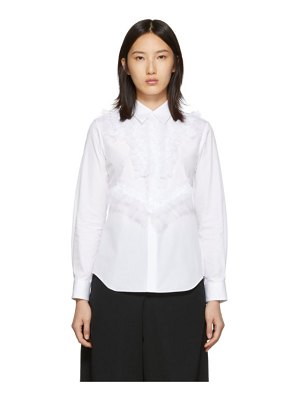 Comme Des Garcons white thick georgette detail shirt