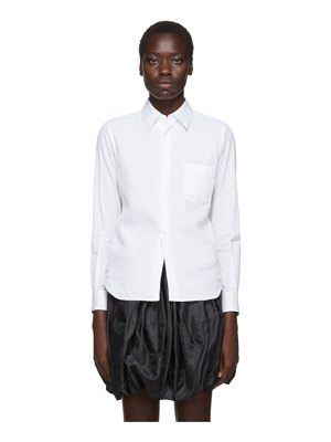 Comme Des Garcons white thin georgette overlay shirt