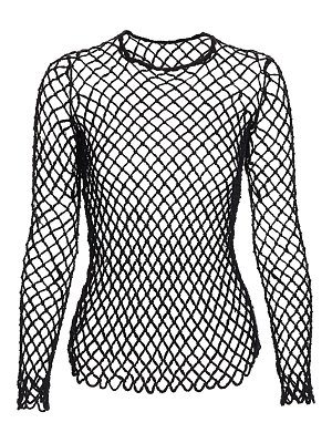 Comme Des Garcons wool fishnet long-sleeve top