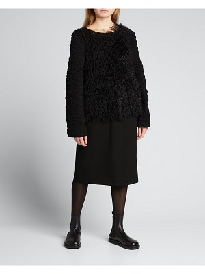 Comme Des Garcons Wool Fringe Feather Sweater