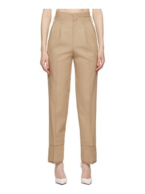 Commission beige layered trousers