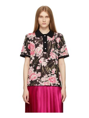 Commission black & pink market polo