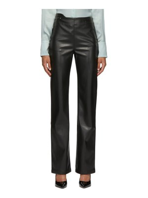 Commission faux-leather fanny trousers