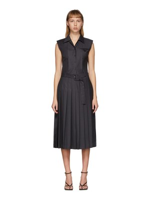 Commission ssense exclusive grey reverse pleated dress