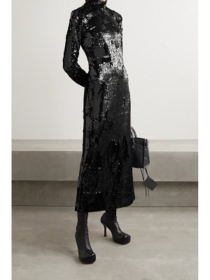 Commission sequined crepe dress