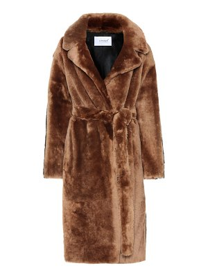 Common Leisure love at 18 striped shearling coat