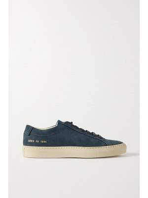 Common Projects achilles leather-trimmed nubuck sneakers